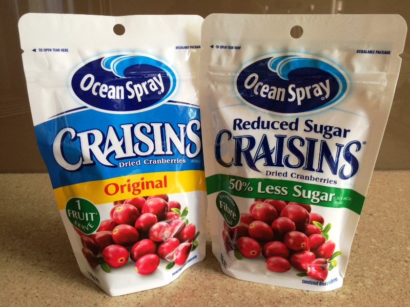 Craisins side by side