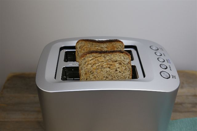 Toaster with Wholemeal bread in it