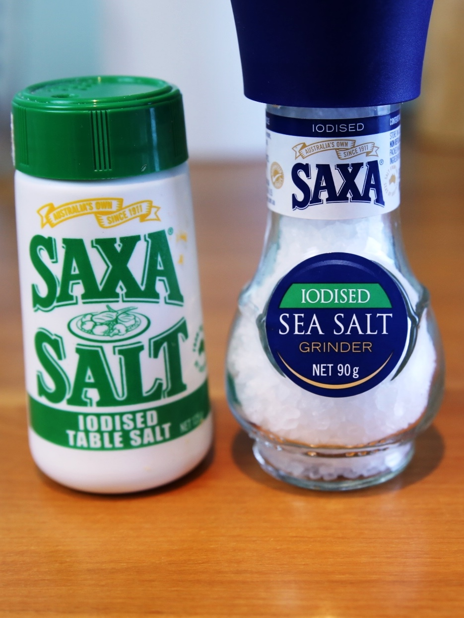Iodised salts Saxa
