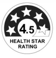 Health Star Rating 4.5 Stars