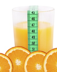 Juice and tape measure crop