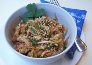 Thai shredded chicken salad