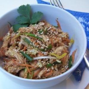 Thai shredded chicken salad