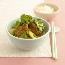 Pork and Asian greens stir-fry