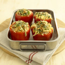 Mexican rice stuffed capsicums