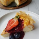 Baked ricotta cheesecake with berries