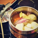 Healthy home-made chicken stock