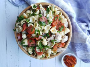 Easy chicken and pasta salad