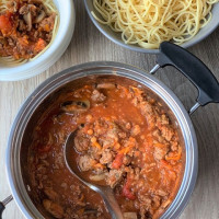 Bolognaise sauce with 'Hidden Veggies'