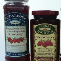 Product review:  Jams and fruit spreads side-by-side