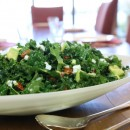 Kale, avocado and almond salad