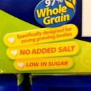 Q. I find the nutrition information on packaged food difficult to understand. What is an acceptable level of sugar per 100 grams?