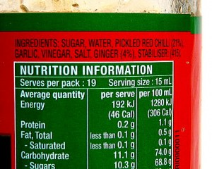 Serious about weight loss - then check your labels: not all serves are equal!