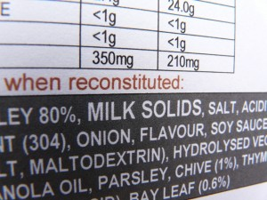 Q.  What does the term MILK SOLIDS mean on a food label?