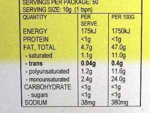 Q. Is margarine high in trans fat?