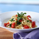 Linguini with fresh spinach and ricotta