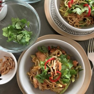 Superfood Stir-fry  (Salmon Chow Mein)