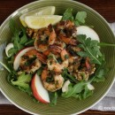 Prawn, rocket, boconcini and walnut salad