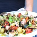 Mediterranean vegetables and tuna