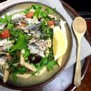 Italian sardine pasta salad with caper and lemon dressing