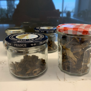 Food delivery and wild mushrooms!