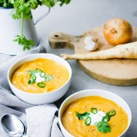 Spiced Root Vegetable & Red Lentil Soup