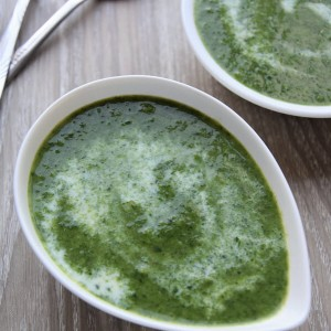 Super-quick spinach soup