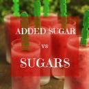 Sugar vs sugars
