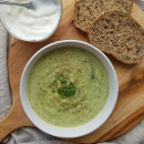 Zucchini and leek soup