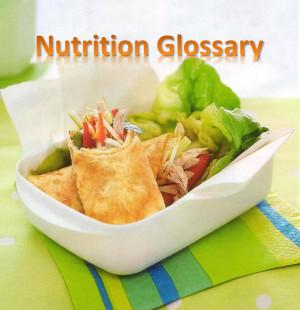 Nutrition glossary