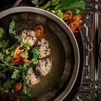 Pork and Mushroom Meatball-Style Soup
