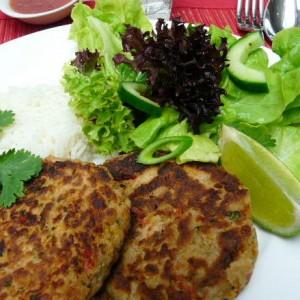 Easy Thai salmon cakes